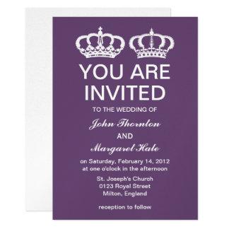 Amethyst Royal Couple Wedding Card