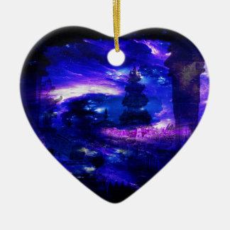 Amethyst Sapphire Bali Dreams Ceramic Heart Decoration