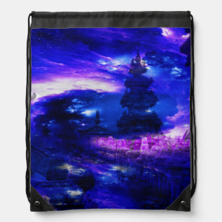 Amethyst Sapphire Bali Dreams Drawstring Bag