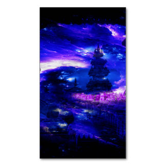 Amethyst Sapphire Bali Dreams Magnetic Business Card