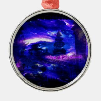 Amethyst Sapphire Bali Dreams Silver-Colored Round Decoration