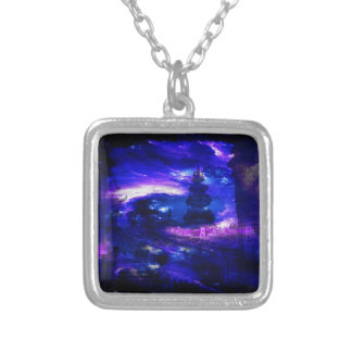 Amethyst Sapphire Bali Dreams Silver Plated Necklace
