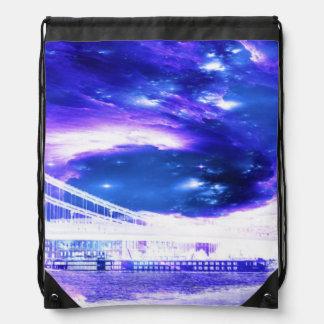 Amethyst Sapphire Budapest Dreams Drawstring Bag
