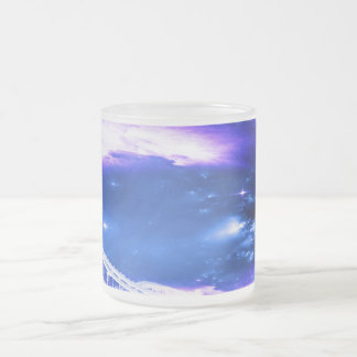 Amethyst Sapphire Budapest Dreams Frosted Glass Coffee Mug