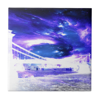 Amethyst Sapphire Budapest Dreams Small Square Tile