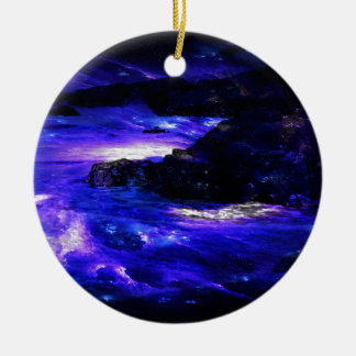 Amethyst Sapphire Indian Dreams Ceramic Ornament