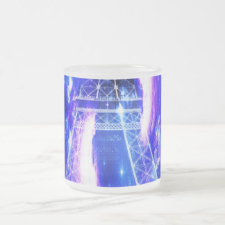 Amethyst Sapphire Paris Dreams Frosted Glass Coffee Mug