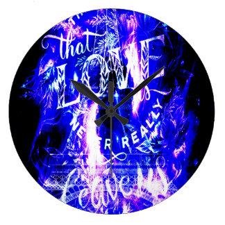 Amethyst Sapphire Paris Dreams the Ones that Love Large Clock