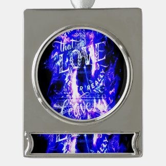 Amethyst Sapphire Paris Dreams the Ones that Love Silver Plated Banner Ornament