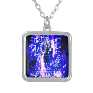 Amethyst Sapphire Paris Dreams the Ones that Love Silver Plated Necklace