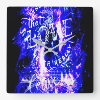 Amethyst Sapphire Paris Dreams the Ones that Love Square Wall Clock