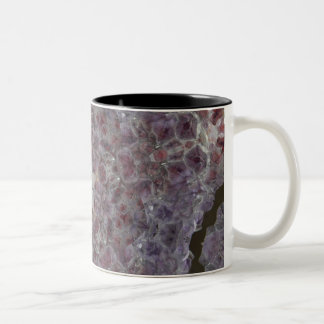 Amethyst star geode Two-Tone coffee mug