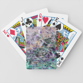 amethyst stone texture bicycle playing cards