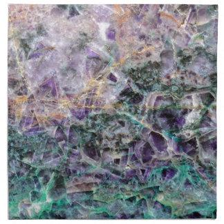 amethyst stone texture napkin