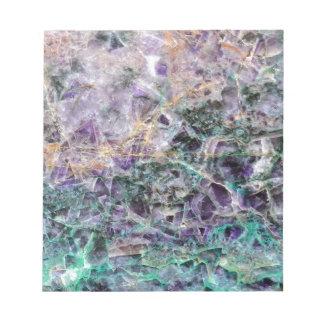 amethyst stone texture notepad