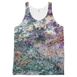amethyst stone texture pattern rock gem mineral am All-Over print singlet