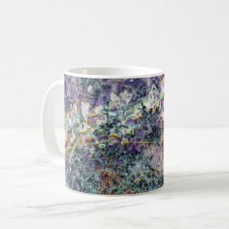 amethyst stone texture pattern rock gem mineral am coffee mug