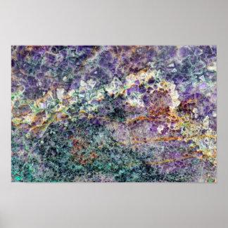 amethyst stone texture pattern rock gem mineral am poster