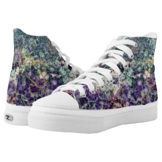 amethyst stone texture pattern rock gem mineral am printed shoes
