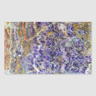 amethyst stone texture pattern rock gem mineral rectangular sticker