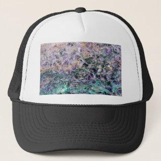 amethyst stone texture trucker hat