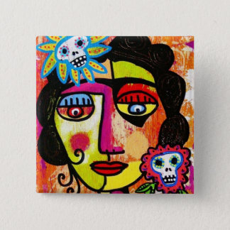 Amethyst Sugar Sull Frida by SilberZweigArts 15 Cm Square Badge