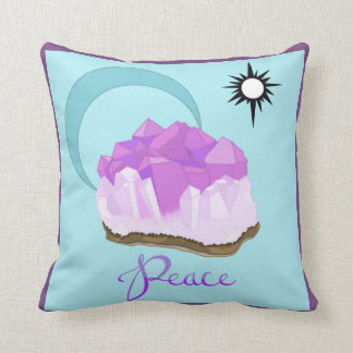 """Amethyst Throw Pillow 16""""x16"""" Colored"""