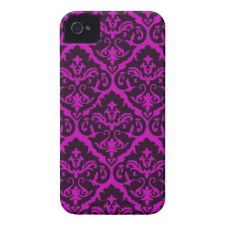 Amethyst Victorian Damask iPhone 4 Case-Mate Case