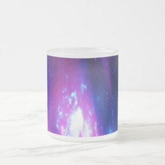 Amethyst Winter Sky Frosted Glass Coffee Mug
