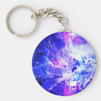 Amethyst Yule Night Dreams Basic Round Button Key Ring