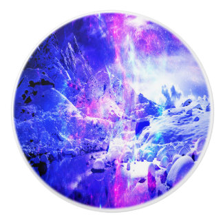 Amethyst Yule Night Dreams Ceramic Knob