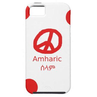 Amharic Language And Peace Symbol Design iPhone 5 Case