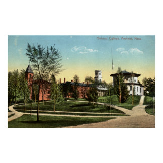 Amherst College Repro Vintage 1912 Poster