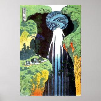 Amida Waterfall on the Kisokaido Road Posters