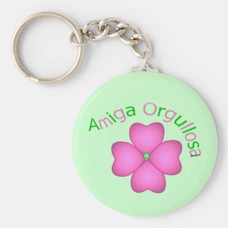 Amiga Orgullosa Basic Round Button Key Ring
