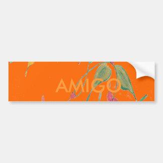 Amigo Orange Vine Rustic Bumper Sticker