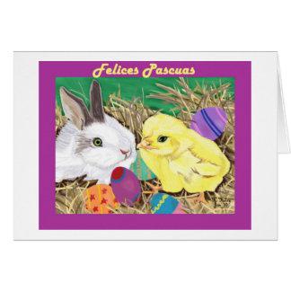 Amigos de Pascua tarjeta (Easter Friends card) Card
