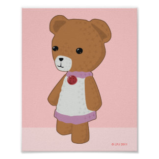 Amigurumi Teddy Bear Print