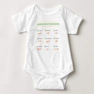 Amino Acids - Where do you get your protein? Baby Bodysuit