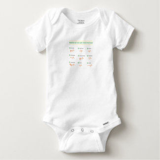 Amino Acids - Where do you get your protein? Baby Onesie