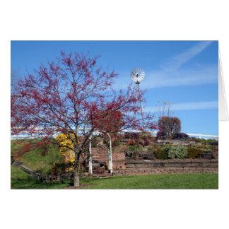 Amish Autumn Garden Greeting Card
