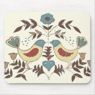 Amish Birds Cottage Chic Distlefink Mouse Pad