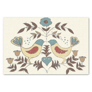 Amish Birds Cottage Chic Distlefink Tissue Paper