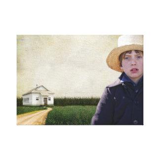 Amish Boy Potrait Canvas Print
