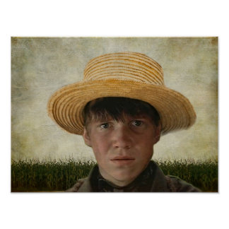 Amish Boy Potrait Poster