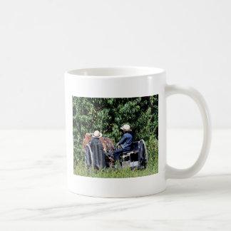 Amish Boys in a Cart Basic White Mug