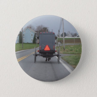 Amish Buggy 6 Cm Round Badge