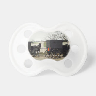 """Amish Buggy """"Parking Lot"""" Pacifier"""