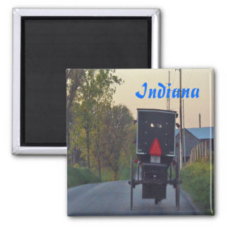 Amish Buggy Square Magnet