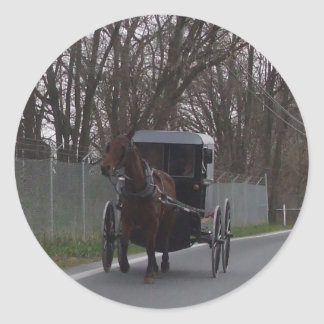 Amish Buggy Sticker